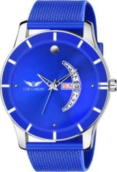 LOIS CARON LCS-8164 BLUE DIAL DAY & DATE FUNCTIONING WATCH Analog Watch - For Men