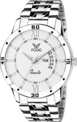 Fogg 2047-WH Day and Date Analog Watch - For Men
