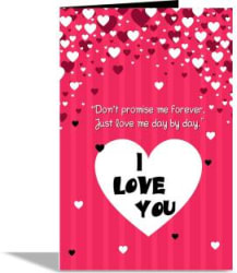 alwaysgift I Love U Valentines Day Greeting Card Greeting Card Mullti, Pack of 1