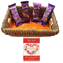 SFU E Com Valentines Day Chocolate Gift Basket | Valentine s Day Gift Combo for Him, Her, Husband, Wife, Loved Ones, Girl Friend | Valentine s Day Greeting Card | Valentine Chocolate Hamper | 1415