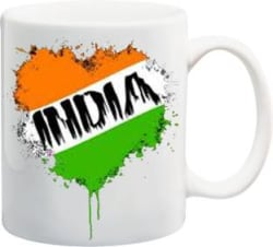 ME&YOU Gifts On Republic Day Independence Day For Father Mother Friends Sister Brother Grand Father Grand Mother (IZ17-VK-MU-01192) India Printed Ceramic Mug 325 ml