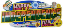 Shreeji Decoration Independence day banner with sticker Banner 56 ft, Pack of 1
