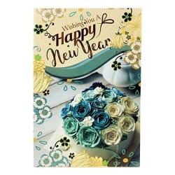 Almoda Creations® Happy New Year Premium Greeting Card (F3)