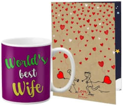 LOF Special Christmas and New Year Gifts For Friends Girlfriend Boyfriend A Great Gift For Family Greeting Message Card Coffee Mug Combo