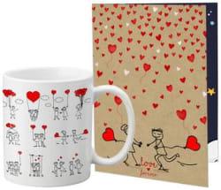 LOF Merry Christmas And New Year Celebration Greeting Message Card Coffee Mug Combo