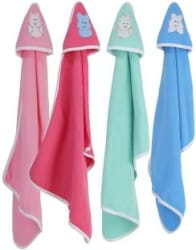 Brandonn Striped Single Hooded Baby Blanket Polyester, pink , blue , green , orange