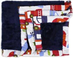 Miss & Chief Printed Single Crib Baby Blanket Microfiber, Dark Blue