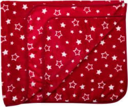 LuvLap Printed Crib AC Blanket Polyester, Red