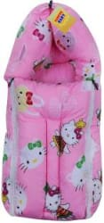 Fareto New Born Baby Teddy 3 in 1 Sleeping Bag Cum Baby Bed/Carry Bag/Baby Wrapper.(0-6 Months) (Pink) print cartoon Fabric, Pink