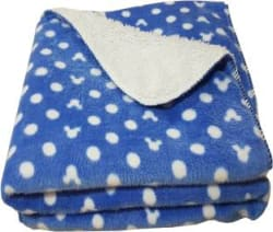 My New Born Polka Crib Crib Baby Blanket Polyester, Blue