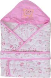 TINY LOOKS Presents new born baby Wrapper blanket Sleeping Bag Cum Nest Bag/ Snuggle Pod Baby Sleeping Bag Pink