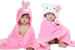 My New Born Cartoon Single Crib Baby Blanket Polyester, Pink