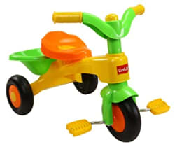 Luvlap - 18319 Charlie Baby Kids Tricycle with Anti-Slip Pedals & Rear Basket, up to 18 Months, Carry Capacity Upto 18 Kg (Orange)