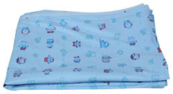 Super Baby-Double Bed Cover Soft Plastic Protector/Mattress/Mat/Cover/Water Proof- (8.5 Feet X 6.5 Feet) Multi Color