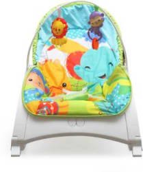Fiddle Diddle Baby Bouncer Cum Rocker with Reclining Function, Calming Vibration, Playing Toys - 54 Rocker and Bouncer Multicolor