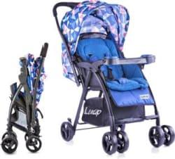 LuvLap Joy Baby Stroller - Printed Blue Stroller 3, Blue