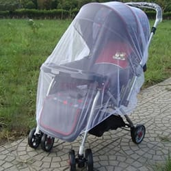 Kiddale Polyester Baby Stroller & Pram Mosquito Net -White- Classic Quality