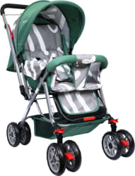 1st Step Yoyo Baby Stroller With 5 Point Safety Harness And Reversible HandleBar Stroller 3, Green