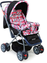 LuvLap Starshine Stroller 3, Red
