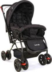 LuvLap Starshine Stroller Multi, Black