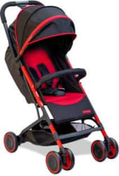 Fisher-Price Fly Light Stroller Cum Pram - Red Stroller Multi, Red