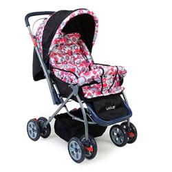 LuvLap Starshine Stroller / Pram, Easy Fold for Newborn Baby / Kids, 0-3 Years (Light Red)