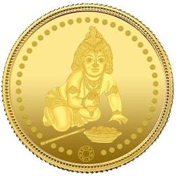 Muthoot Gold Bullion Corporation 24k (999) Lord Krishna 2 gm Yellow Gold Coin