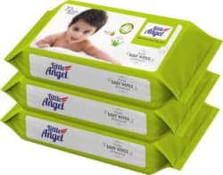 Little Angel Super Soft Baby Wipes (3 Packs of 72 Pcs) 3 Wipes