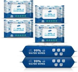 Dignity 99% Water Wipes, 80 Wipes/Pack (Pack of 6)(480 Wipes)