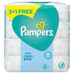 Pampers Fresh Clean Baby Wipes - 64 Wipes/Pack (Buy 3 Packs Get 1)