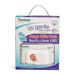 Himalaya Gentle Baby Wipes Mega Offer Pack (4N x 72 s) Save Rs.101/-