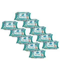 GLIDER Baby Wet Wipes with Lid/Flip-top(100 Wipes) (White) - Pack of 10