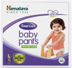 Himalaya Total Care Baby Pants Diapers - L(76 Pieces)