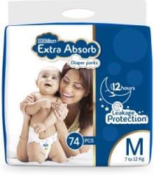 Billion Extra Absorb Diaper Pants - M 74 Pieces