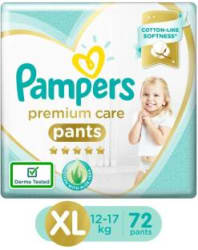 Pampers Premium Monthly Box Pack Cotton like soft Diapers with Wetness Indicator - XL 72 Pieces