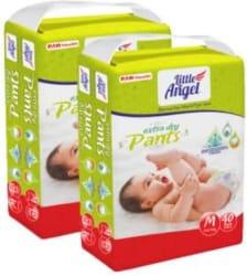 Little Angel Baby Diaper Pants (2 x 40 Pcs) - M 80 Pieces