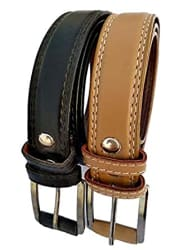 forever99 belt for Kids boy and kids girls formal branded belt for boys Faux Leather Brown & Khaki combo mega 2 pack