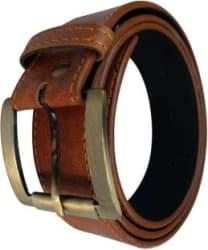 Peacock Mundkar Boys Brown Artificial Leather Belt