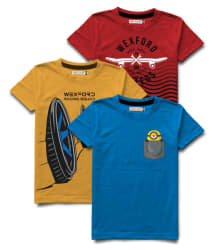 HELLCAT Cotton Round Neck Printed Boys Tshirts Pack of 3