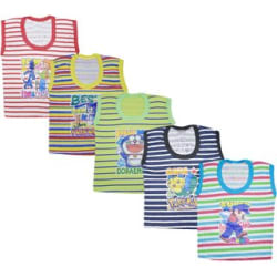 Jisha Sleeveless Multicolor Daily wear Tshirt for summer Set of 5