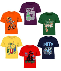 Kiddeo Kids Boys t Shirts(New 01) (Pack of 6)