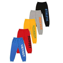 KYDA KIDS Boys Loose Fit Trackpants (Pack of 5)