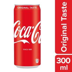 Coca-Cola Soft Drink - Original Taste, 300 ml Can