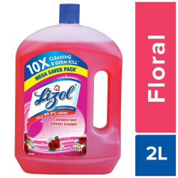Lizol Disinfectant Surface & Floor Cleaner Liquid - Sandal, Kills 99.9% Germs, 2 L