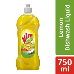 Vim Dishwash Liquid Gel - Lemon, 750 ml Bottle