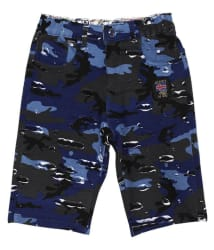 Tadpole Boy s Cotton Blue Mid-rise Regular-fit Shorts