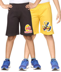 Dongli Gray & Yellow Shorts For Boys Set Of 2