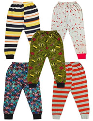 Fashion Trend Boy s & Girl s Cotton Printed Pajama (Pack of 5)