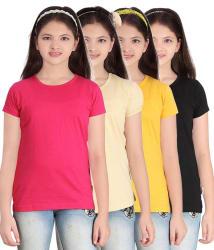 Sini Mini Multi color Half Tshirts Pack of 4
