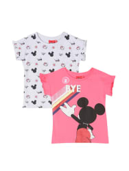 Colt Kids White & Pink Printed T-Shirt (Pack Of 2)